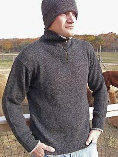 Half-Zip Sweater, 100% Alpaca