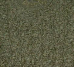 """""""Stephen Gold"""" Cable Crew Sweater"""
