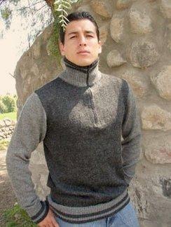 Half-Zip Sweater, Baby Alpaca