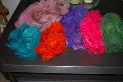 Photo of Alpaca Fiber Washed ~ Dyed