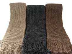 Photo of Scarf - Ribbed Knit Alpaca Scarf