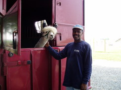 Norman had to wait in the trailer for his shelter to get finished