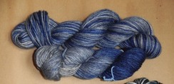 Moody Blue: 3-ply 100% Ohio Alpaca