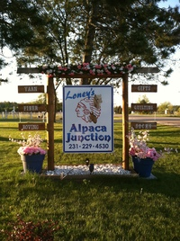 Loney's Alpaca Junction - Logo