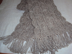 Cable and Wraps Scarf