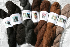 100% Suri Alpaca Yarn darker shades