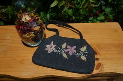 Grey Alpaca Felt Purse