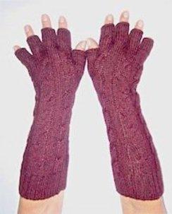Hand-Loomed Alpaca Arm Warmers