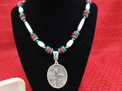 Sterling Paca and Pyr Necklace 4