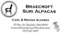 Braecroft Suri Alpacas - Logo