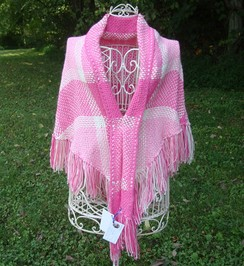 Pinks with Purpose Shawl