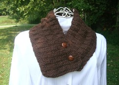 Crochet Scarf / Cowl - Brown