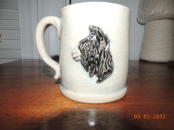 Photo of Stoneware alpaca mug Natural and Black