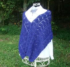 Photo of Blue Alpaca Knit Wrap