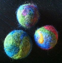 Photo of Felted Cat Toys