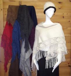 Rose triangle shawl
