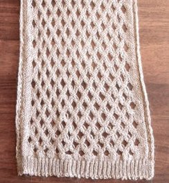 100% Alpaca Diamond-Lace Scarf
