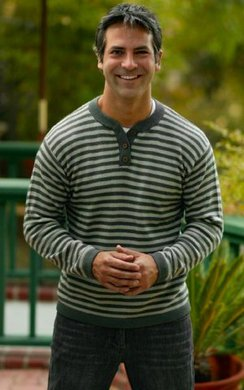 Alpaca Henley-Horizon Sweater