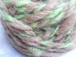 Alpaca Yarn (Fawn/Green) -24 yards