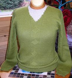 Photo of V-Neck Pullover Cable Front Sweater