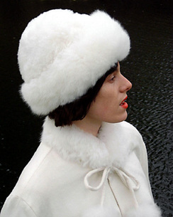 Alpaca Russian Fur Hat - White