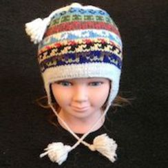 Alpaca Hat Incan Stripe for Youth