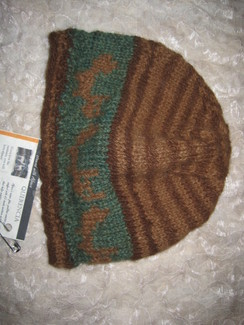 Green-eyed Foxes Hand Knit Cap
