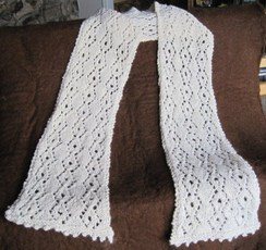 White Lace Scarf