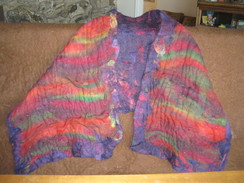 Photo of Alpaca Rainbow Felt Shawl