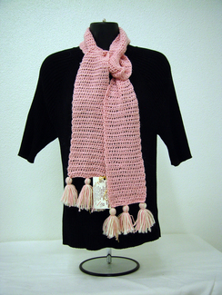 Hand Crochet Scarf -Includes Shpg