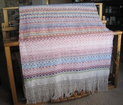 Thousand Flower Overshot Blanket