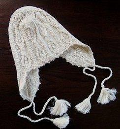 Ivory Hand-Knit Alpaca Chullo