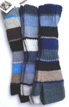 Photo of Alpaca Fingerless Gloves Wide Stripe