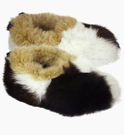 100% Baby Alpaca Reversible Fur Slipper
