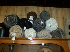 True Black Rug Yarn Alpaca  Cotton Cord