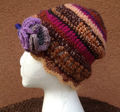Photo of Lollypop Line Hat Brown/Maroon