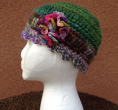 Photo of Lollypop Line Hat: Green Flower Burst