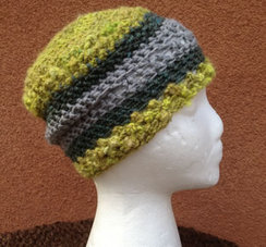 Photo of Lollypop Line Hat: Spring Green/Grey