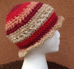 Photo of Lollypop Line Hat: Sunset Fawn