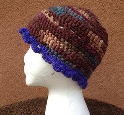Lollypop Line Hat: Mahogony/Blue