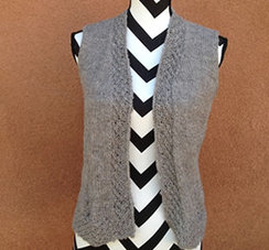 Photo of Linda's Workshop: Granite Lace Vest
