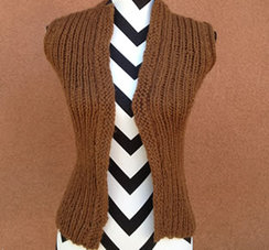 Photo of Linda's Workshop: Chestnut Woobie Vest
