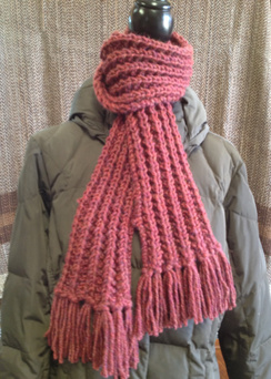 Photo of Linda's Workshop: Cranberry Finge Scarf