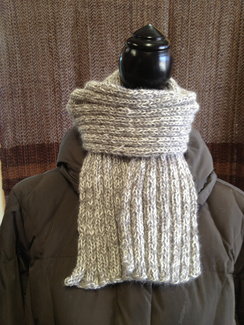 Photo of Linda's Workshop: Grey Gentleman's Scarf