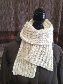 Photo of Linda's Workshop: Light Lace Ivory Scarf