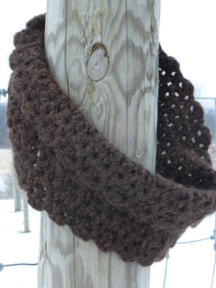 Photo of Cozy Alpaca Cowl Scarf - Crochet