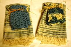 Hand Woven Dish Towel Sets 100% Cotton