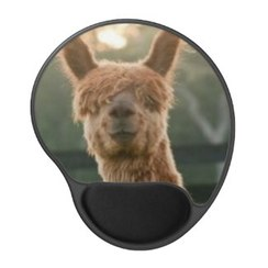 Alpaca Smiling Gel Mousepad