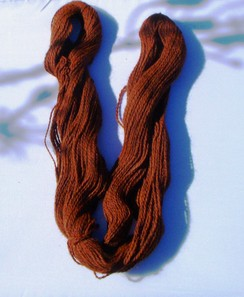Photo of Alpaca Suri/ Orange Merino yarn