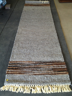 Photo of Ingrid'sRunnerRug Grey with End Pattern